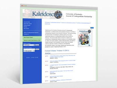 Kaleidoscope, the University of Kentucky Journal Of Undergraduate Scholarship